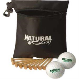 Golf Essentials Pro Pack With Essentials Bag, Divot Fixer, Golf Balls And Tees