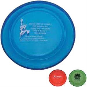 "Crown - Full Size 9"" Flying Disc In Transparent Colors. Biodegradable"