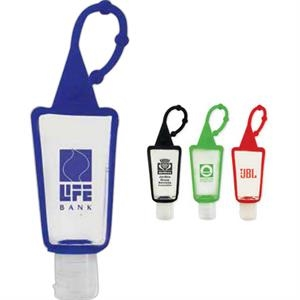 On The Go - 1 Ounce Hand Sanitizer With Flip Top Cap Inside A Silicone Case