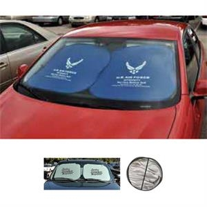 Square Auto Sun Shade Made From Light Reflective Material
