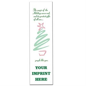 Bookmark With Stylized Christmas Tree Design