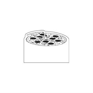 Full Color Process - Pizza Design - Creative Top Flexible Magnet With Curved Upper Left Corner