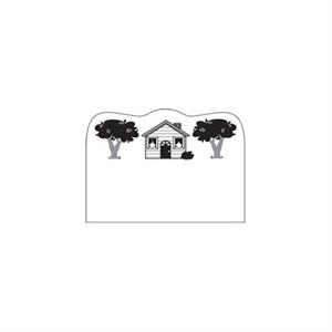 Offset - House In The Middle And 2 Trees Design - Creative Top Flexible Magnet With Curved Top