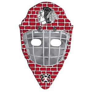 Hockey Mask Shaped Hand Fan Without Stick With A High Gloss Finish