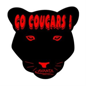 Cougar Shaped Hand Fan Without Stick With A High Gloss Finish
