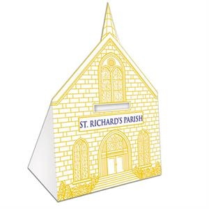 "Recyclable Church Bank, 3 1/2"" X 2 1/4"" X 5 1/2"""