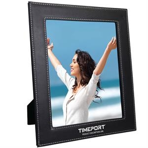Bolzano - 8 X 10 Leatherette Photo Frame. Contrasting White Stitched Edges, Velveteen Backing