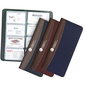 Poly Canvas Business Card File. Holds 160 Business Cards