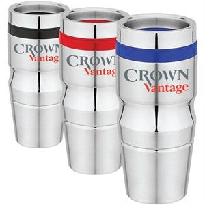 Mesa - 16 Oz Stainless Steel Travel Tumbler. Easy-grip Body