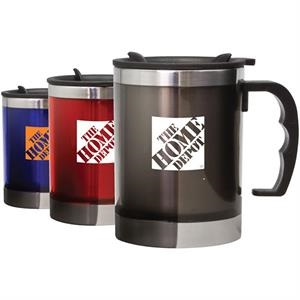 Patterson - 16 Oz Compact Design Travel Mug. Durable Grip Handle