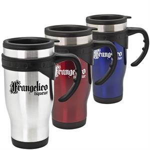 Fremont - 16 Oz Stainless Steel Travel Mug. Ergonomically Designed Large Handle