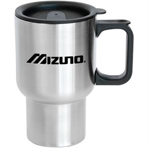 Sonoma - 16 Oz Stainless Steel Travel Mug. Non-skid Rubber Base