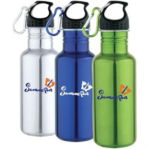 Yorba - 25 Oz Stainless Steel Water Bottle. Leak Proof Lid With Carabiner Clip