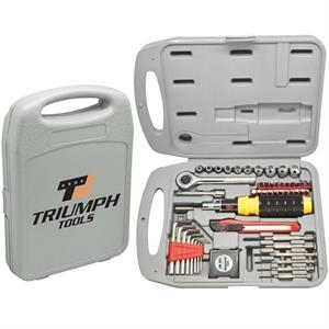 The Handyman - 55 Pc Tool Set. Durable With Tools, Tape Measure And Utility Knife