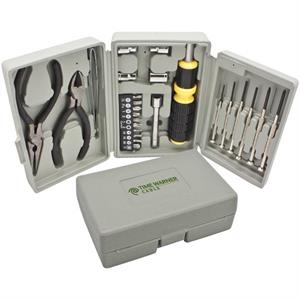 Tool Set. Includes Screwdrivers, Sockets, Pliers, Wire Cutter Stripper And Ratchet