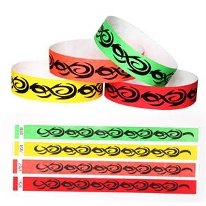 "Preprinted Tattoo Design, Tyvek 3/4"" Wristband"