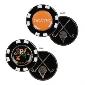 Sale 5-7 Day Production - All Metal Custom Molded Players Chip With Enamel Highlights