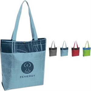 Blueprint - Tote Bag With A Unique Architectural-look Screen Print Design