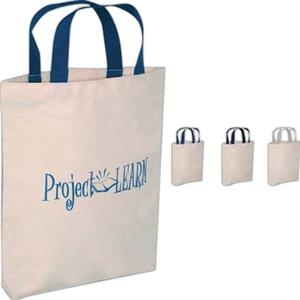 "Value Leader - Silkscreen - Medium Weight Natural Canvas Tote Bag With 12.5"" Handles"