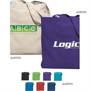 Economy - Quality Colored Cotton Sheeting Gusseted Tote Bag