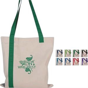 Economy - Silkscreen - Striped Tote Bag Made Of Quality Cotton Sheeting