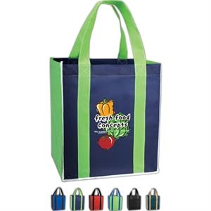 Mucho Grande - Vivid Expressions (tm) - Non Woven Polypropylene Tote Bag With Accents
