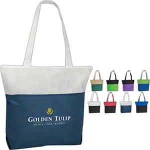 Poly Pro - Silkscreen - Polypropylene Two-tone Zippered Tote Bag