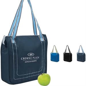 Insulated Cooler Tote With A Colored Band