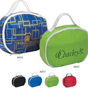 Insulated Lunch Cooler With Zipper Closure