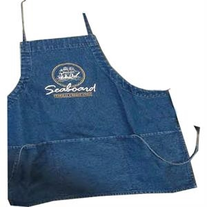 "Durable 12 Oz, Denim Apron With 3 Large 9.5"" X 7.5"" Pockets"