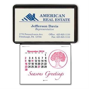 Press-n-stick (tm) - Business Card Calendar Without Imprint