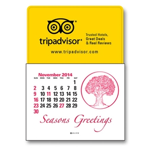 Press-n-stick (tm) - Fourteen Month Calendar Pad