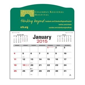 Press-n-stick (tm) - Jumbo 3 Month Calendar In Horizontal Format