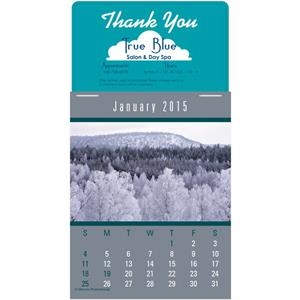 Press-n-stick (tm) Scenic - Twelve Month Stick-on Calendar Pad With A Variety Of American Landscapes