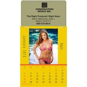 Press-n-stick (tm) Sunshine Girls - Twelve Month Calendar Pad With Photographs Of Women In Bathing Suits