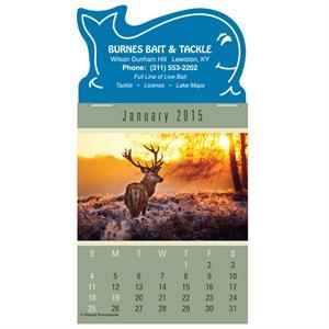 Press-n-stick (tm) Sportsman - Twelve Month Stick-on Calendar Pad With A Variety Of Outdoor Sports