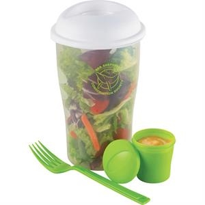 Happy Nest - Four-piece Set Includes Shaker Cup, Lid, Dressing Container And Fork