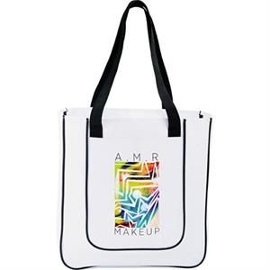 Punch - Tote Bag With An An Open Front Pocket For Tablets