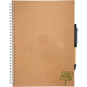 Trash Talking Journalbooks (r) - Recycled Spiral Journal With 70 Sheets Of Lined Recycled Pap