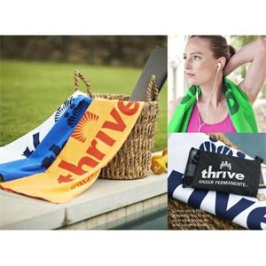 Color Fusion (tm) Transfer - Microfiber Suede Fitness Towel Takes In 8 Times Its Weight In Water