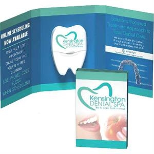 "Double Booklet - 8.5"" W X 3.875"" H - Fully Customized Booklet With Dental Floss"