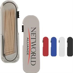 Plastic Travel Toothpick Dispenser