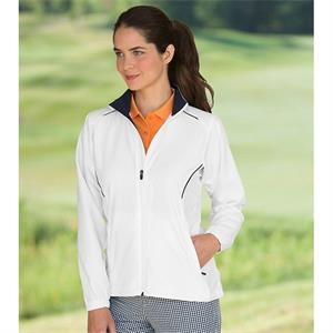 Ladies' Peached Twill Wind Jacket