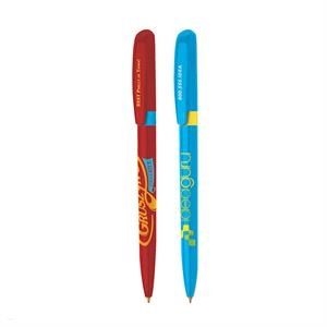 Bic (r) Pivo (r) - Twist Action Ballpoint Pen With Colored Ring And Sleek Slim Profile