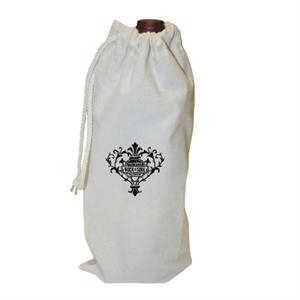 Drawstring Cotton Wine Tote (single Bottle)
