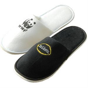 Lightweight And Comfortable Plush Cotton Velour Travel Slippers