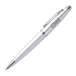 Coronado - Silver - Classically Styled Ballpoint Aluminum Metalpen With Twist Action And Chrome Accents