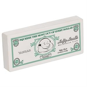 Customizable Dollar Bill Shape Stress Reliever
