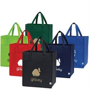 Cyprus - Large Capacity Shopping Tote Bag With Front Pocket. Recyclable