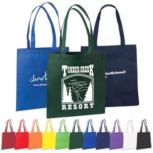 "Non Woven Value Tote With 22"" Reinforced Handles"